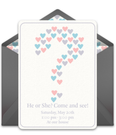 photograph about Free Printable Gender Reveal Invitations identified as Free of charge Gender Demonstrate Occasion On-line Invites Punchbowl