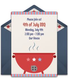 graphic about Free Printable Patriotic Invitations called Cost-free 4th of July On the net Invites Punchbowl