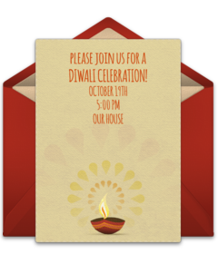 Free diwali online invitations punchbowl diwali stopboris Gallery