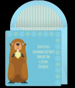 Free groundhog online invitations punchbowl groundhog m4hsunfo