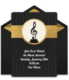Free Music And Dance Online Invitations