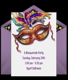 dee8935132e9 Free Mardi Gras Online Invitations