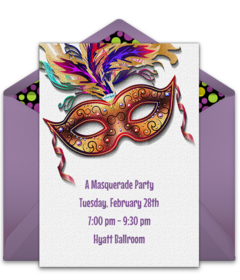 image about Free Printable Mardi Gras Invitations identify Free of charge Mardi Gras On-line Invites Punchbowl