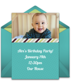 Free 1st birthday online invitations punchbowl plus filmwisefo Image collections
