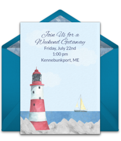 Free travel inspired online invitations punchbowl lighthouse landscape filmwisefo