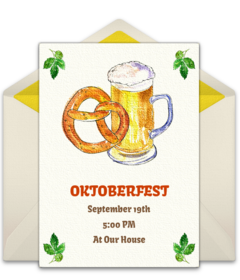 Free Oktoberfest Online Invitations