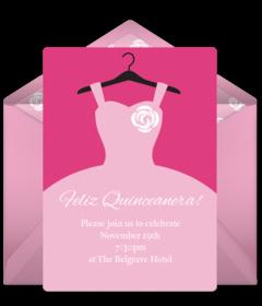 free quinceañera online invitations punchbowl