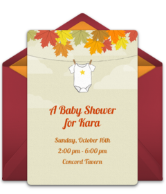 Free baby shower online invitations punchbowl autumn baby shower free filmwisefo