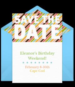Free Birthday Save The Dates Online