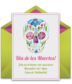 Free dia de los muertos online invitations punchbowl day of the dead m4hsunfo