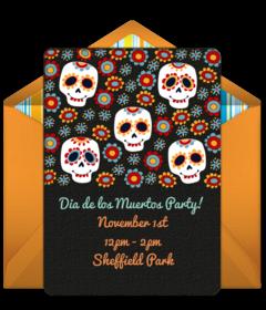 Free Dia de los Muertos Online Invitations | Punchbowl