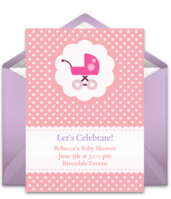 Baby Carriage  Baby Shower Invitations Free Templates Online