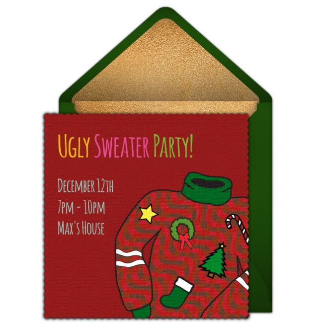 Free Ugly Sweater Party Online Invitation Punchbowlcom