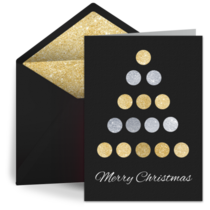 Foil Christmas Tree card image