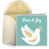 Holiday Dove card image