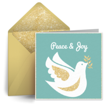 Christmas Dove card image