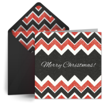 Christmas Chevrons card image
