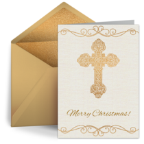 Christmas Cross card image