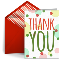 Christmas Thank You Dots  card image