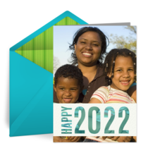 2021 New Years Photo card image