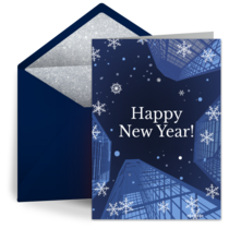 New Year Flakes card image
