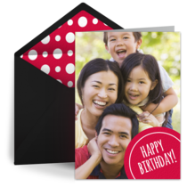 Birthday Photo Dot card image
