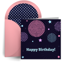 Birthday Fireworks card image