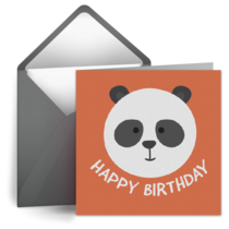 Panda Birthday card image