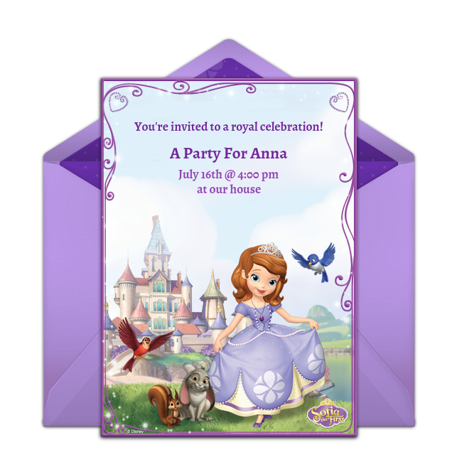 Free sofia the first online invitation punchbowl sofia the first online invitation stopboris Images