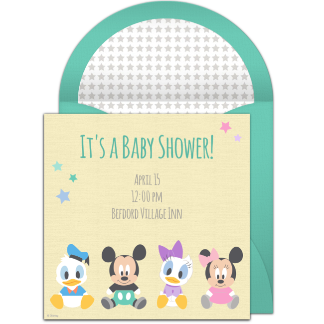 Free Disney Baby Shower Online Invitation Punchbowl