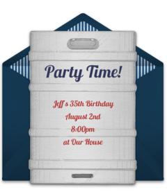 Free adult birthday party online invitations punchbowl beer keg filmwisefo