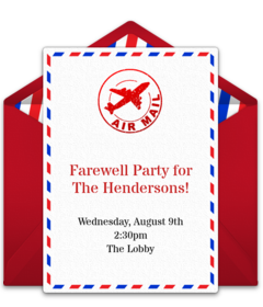photo about Free Printable Going Away Party Invitations referred to as Totally free Farewell Celebration On the web Invites Punchbowl