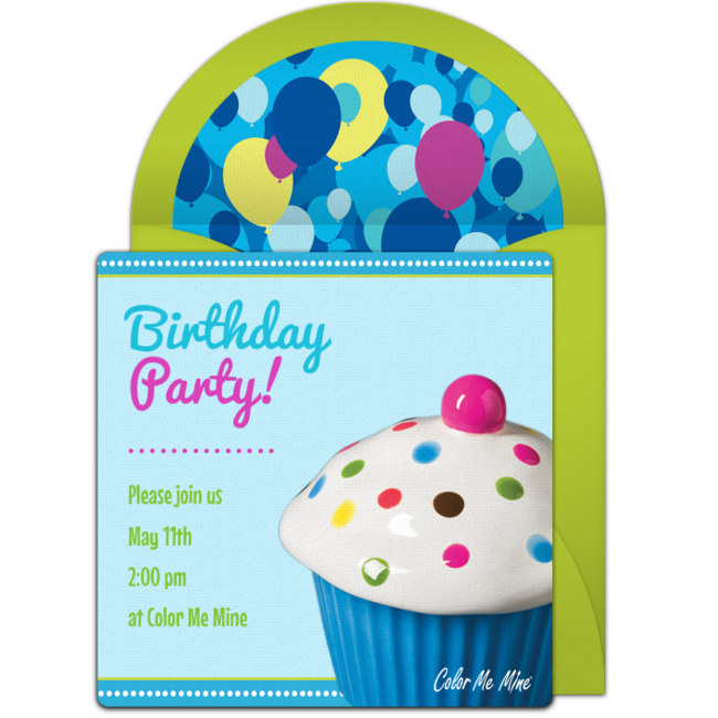 Color Me Mine | Birthday Online Invitation