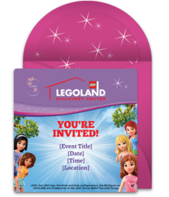 Free Legoland Online Invitations