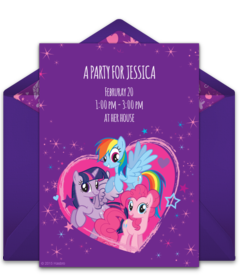 Free My Little Pony Online Invitations | Punchbowl