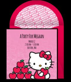 Hello Kitty Birthday Invitation Maker Gallery Invitation Templates