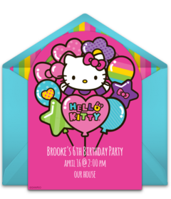 Free hello kitty online invitations punchbowl hello kitty balloons free stopboris Gallery