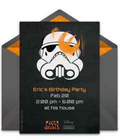 Free Star Wars Online Invitations Punchbowl