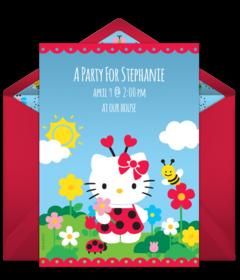 Free hello kitty online invitations punchbowl hello kitty ladybug free stopboris Gallery