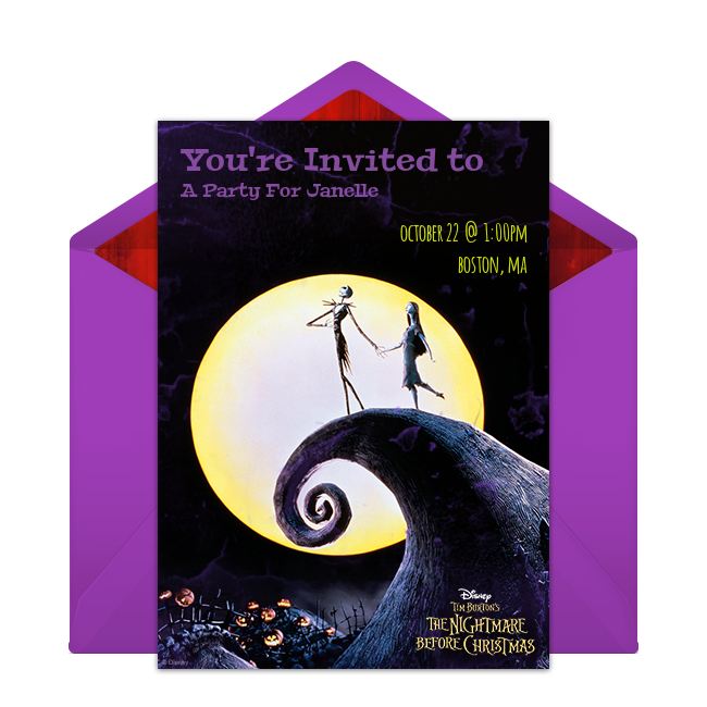 Free the nightmare before christmas online invitation punchbowl the nightmare before christmas online invitation filmwisefo