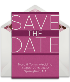Free birthday save the dates online punchbowl pink save the date free pronofoot35fo Image collections