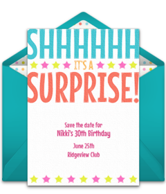 Free birthday save the dates online punchbowl save the date surprise free pronofoot35fo Image collections