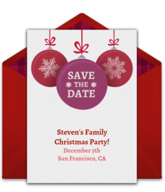 Christmas Save The Date Free Template.Punchbowl Com