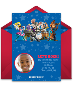 Chuck E Cheeses Online Invitations Punchbowl