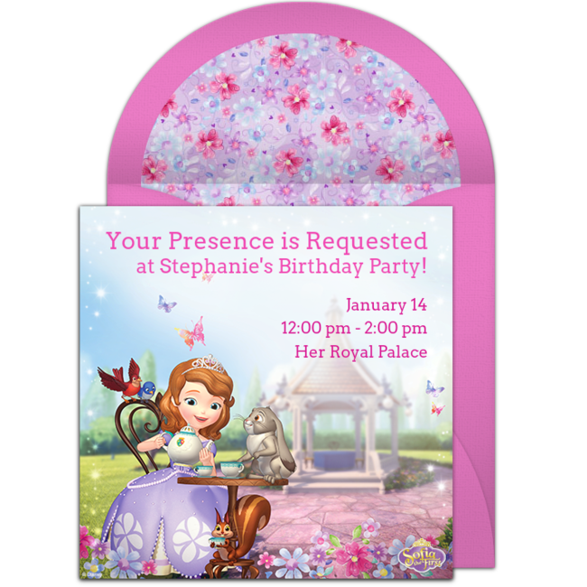 Free Princess Sofia Online Invitation Punchbowl