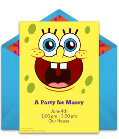 Free SpongeBob SquarePants Online Invitations