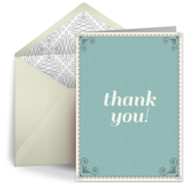 Admin Simple Thank You card image