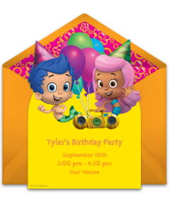 Free Bubble Guppies Online Invitations