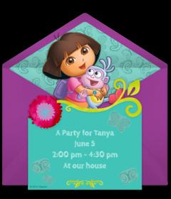 Free Dora The Explorer Online Invitations