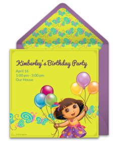 Free Dora The Explorer Online Invitations Punchbowl